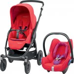 Pack poussette duo stella cabriofix red orchid