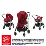 Poussette pack trio loola excel raspberry red 2014 pas cher