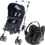 Poussette duo loola up total black 2013 pas cher