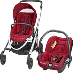 Poussette duo elea streety robin red 2015 pas cher