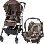 Poussette duo loola 3 cabriofix earth brown 2015 pas cher