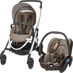 Pack poussette duo elea streety earth brown 2015 pas cher