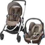 Poussette duo elea cabriofix earth brown 2015 pas cher