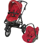 Poussette duo high trek creatis intense red 2013 pas cher