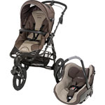 Poussette combiné duo high trek creatis walnut brown 2014 de Bebe confort