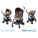Poussette combiné pack trio maia walnut brown 2014 de Bebe confort