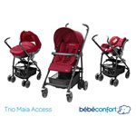 Poussette pack trio maia raspberry red 2014 pas cher