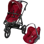 Poussette combiné duo high trek creatis raspberry red 2014 de Bebe confort
