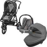 Poussette trio high trek cabriofix windoo concrete grey 2015 pas cher