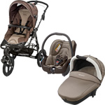 Poussette trio high trek streety compacte earth brown 2015 pas cher