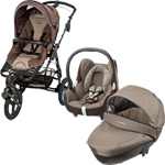 Pack poussette trio high trek cabriofix windoo earth brown 2015 pas cher