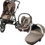 Poussette trio high trek cabriofix compacte earth brown 2015 pas cher