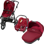 Pack poussette trio high trek streety compacte robin red 2015 pas cher