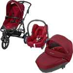 Pack poussette trio high trek cabriofix windoo robin red 2015 pas cher
