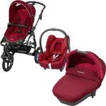 Pack poussette trio high trek cabriofix compacte robin red 2015 pas cher