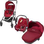 Pack poussette trio elea streety compacte robin red 2015 pas cher