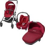 Pack poussette trio elea cabriofix compacte robin red 2015 pas cher