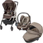Pack poussette trio loola 3 cabriofix windoo earth brown 2015 pas cher
