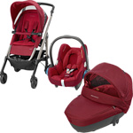 Poussette trio loola 3 cabriofix windoo robin red 2015 pas cher