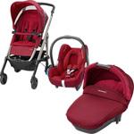 Pack poussette trio loola 3 cabriofix compacte robin red 2015 pas cher