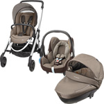 Pack poussette trio elea cabriofix windoo earth brown 2015 pas cher