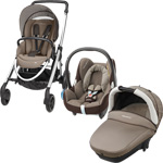 Pack poussette trio elea cabriofix compacte earth brown 2015 pas cher