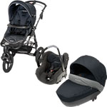 Poussette combiné trio high trek creatis total black 2014 de Bebe confort