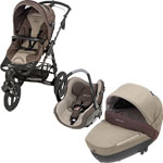 Poussette combiné trio high trek creatis walnut brown 2014 de Bebe confort
