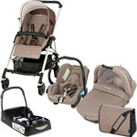 Poussette trio pack streety plus walnut brown+base offerte pas cher