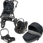 Poussette trio high trek total black 2013 + base offerte pas cher