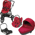 Poussette trio high trek intense red 2013 + base offerte pas cher