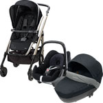 Poussette trio loola windoo pebble total black 2014 pas cher