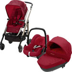 Poussette trio loola windoo pebble raspberry red 2014 pas cher