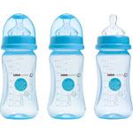 Lot de 3 biberon sans bpa maternity bleu 270 ml pas cher