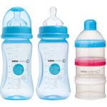 Lot de 2 biberons sans bpa maternity + doseur de lait bleu 270ml pas cher