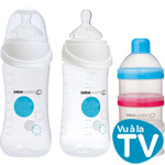Lot de 2 biberon sans bpa maternity easy clip 270 ml+ doseur de lait pas cher