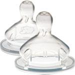 2 tetines maternity t2 3 vitesses silicone base large de Bebe confort