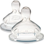 2 tetines maternity t3 bouillie silicone base large pas cher