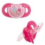 Lot de 2 sucettes silicone maternity dental safe 12/36 mois fille pas cher