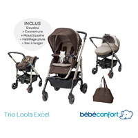 Pack poussette trio loola excel earth brown