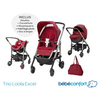 Pack poussette trio loola excel robin red 2015