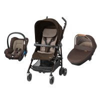 Poussette combiné trio dana amber earth brown