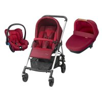 Poussette combiné trio streety amber robin red