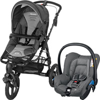Poussette combiné duo high trek citi concrete grey