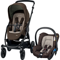 Poussette combiné duo stella citi earth brown