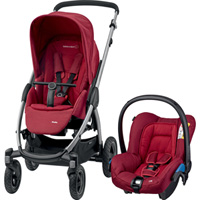 Pack poussette duo stella citi robin red
