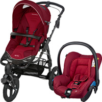 Poussette combiné duo high trek citi robin red