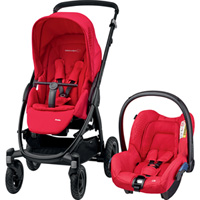 Pack poussette duo stella citi origami red