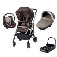 Pack poussette trio loola excel earth brown + base offerte