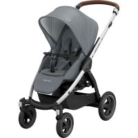Poussette 4 roues stella essential light grey